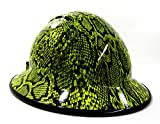 HardHatGear Custom Hydro Dipped VENTED Full Brim Hard Hat in Hi Viz Python - Made in USA