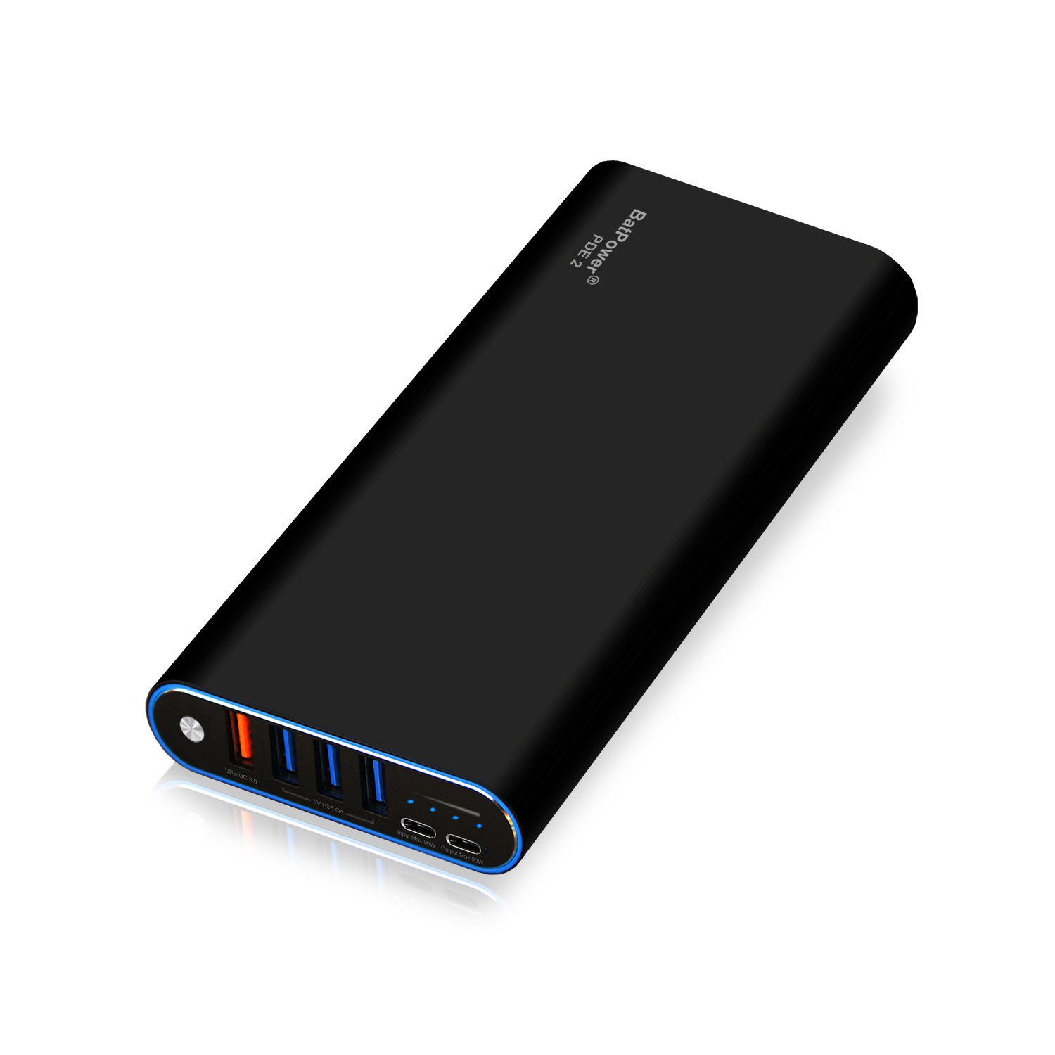 BatPower PDE 2 P40B USB-C Power Bank Portable Charger External Battery for Apple Microsoft HP Lenovo Dell Razer Asus LG Acer MSI Samsung PD USB C laptop notebook tablet smartphone -148Wh by BatPower (Image #2)