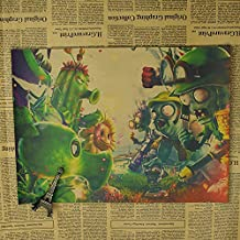 Fangeplus(TM) PopCap Games Cactus Peashooters Plants VS. Zombies PVZ Old Antique Poster Birthday Gift Bar Coffee Shop Decal 19.7''x14.2'' (PVZ63)