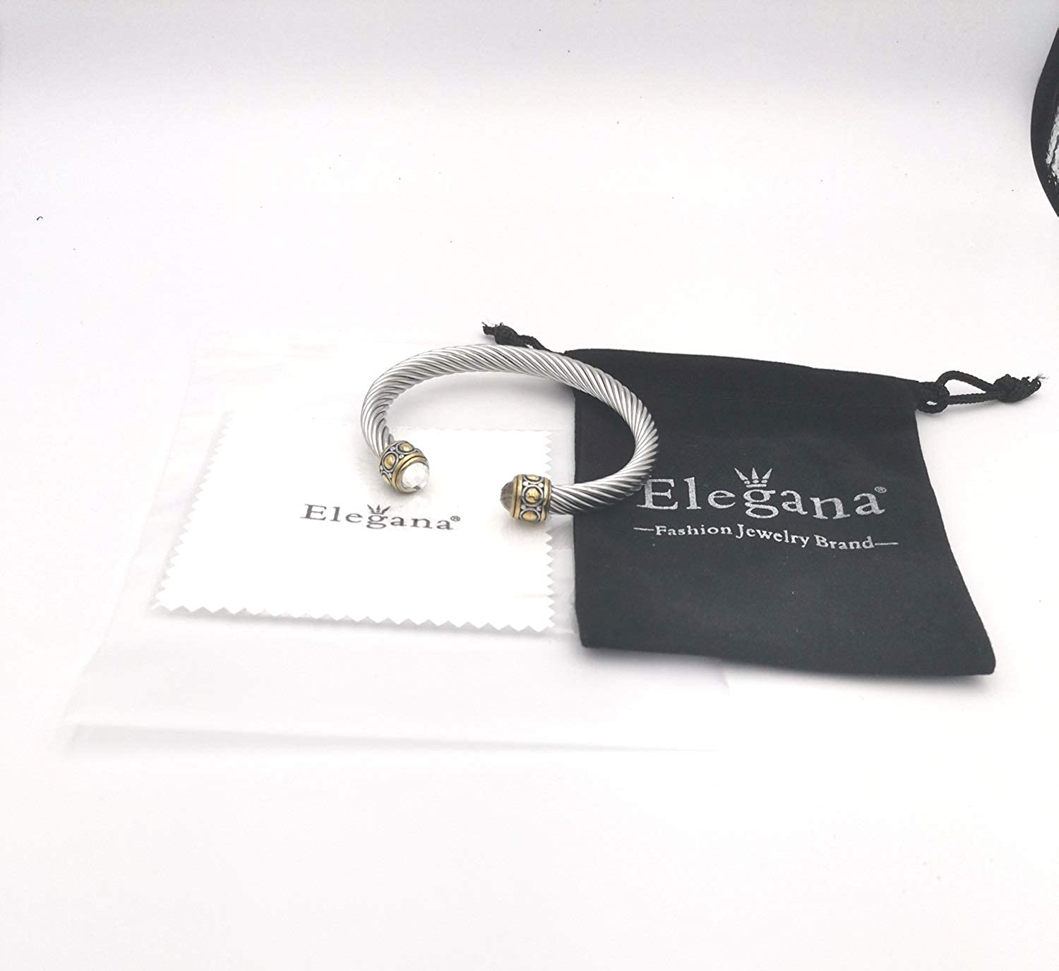 Elegana Bracelet Designer Brand Inspired Antique Women Jewelry Cross Cable Wire Bangle Christmas Day Gifts