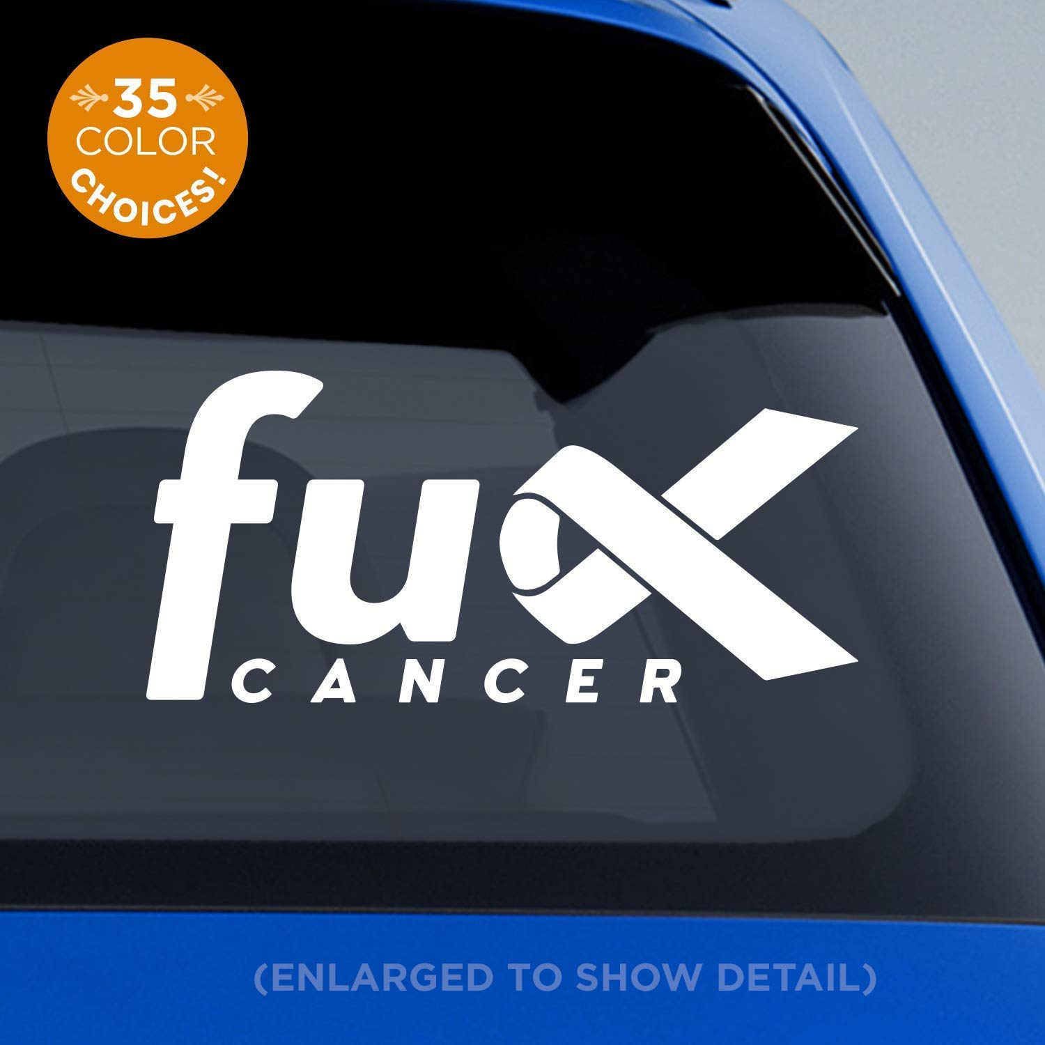 Amazon Com Fu K Cancer Decal Cancer Awareness Ribbon Decal Breast Cancer Lung Cancer Colon Cancer Melanoma Leukemia All Cancers Fu Cancer Fuck Cancer Handmade