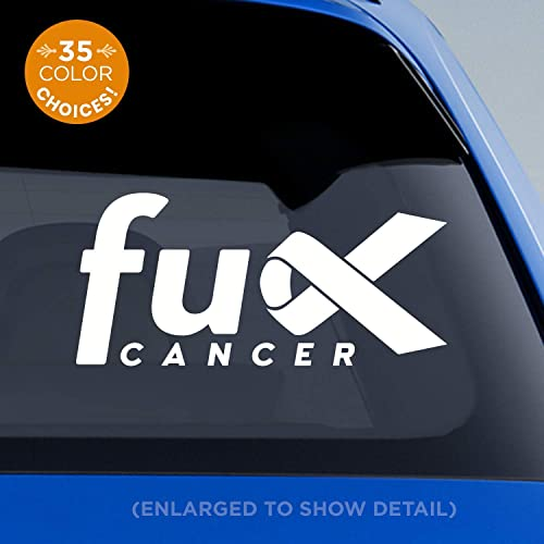 Amazon Com Fu K Cancer Decal Cancer Awareness Ribbon Decal Breast Cancer Lung Cancer Colon Cancer Melanoma Leukemia All Cancers Fu Cancer Fuck Cancer Handmade