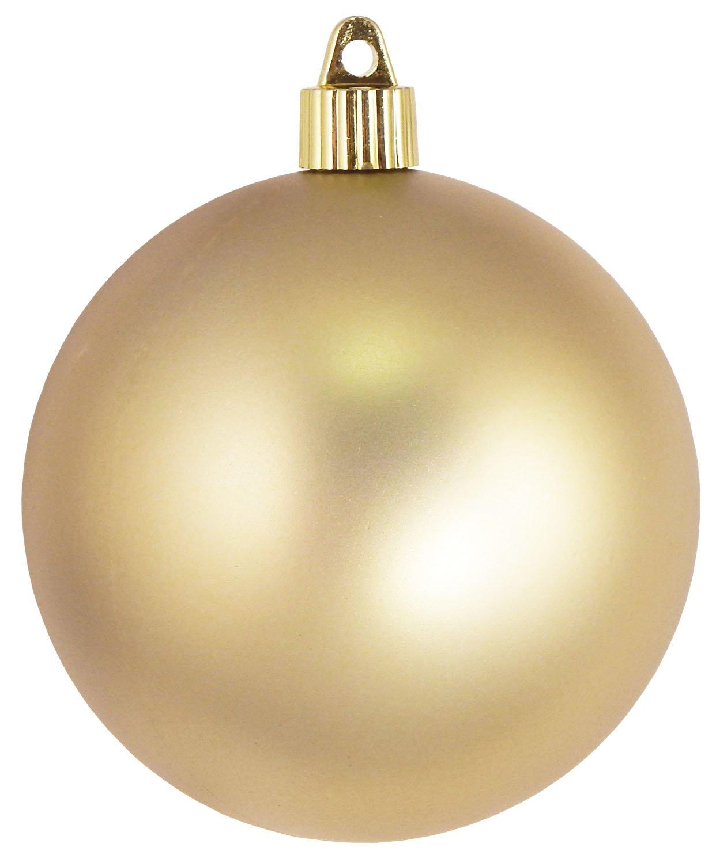 Christmas By Krebs CBK50561 Shatterproof UV-Resistant Christmas Ball Ornaments 4'' Gold Dust 48 Piece