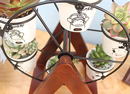 Soporte De Flor Oficina De Madera Maciza Ferris Wheel Desktop Mini ...