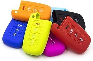 LIGHTKOREA Smart Key Silicone Case Cover 4 Button Fits Hyundai Kia Elantra, Genesis Coupe, Sonata, i30, Sportage, Sorento, Forte Koup, Optima K5 (Orange)