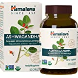 Himalaya Organic Ashwagandha, Adaptogen for Stress-relief, Cortisol level support and Energy Boost, 60 Caplets, 2 Month Supply