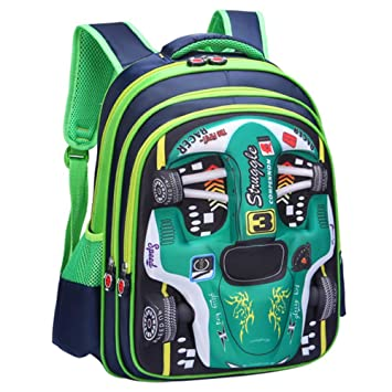 Amazon.com | Childrens School Backpack Lightweight Teens Backpacks Spider-Man Captain America For Boys And Girls School Bags 3-15 Year Old, Racing(Green)-L ...