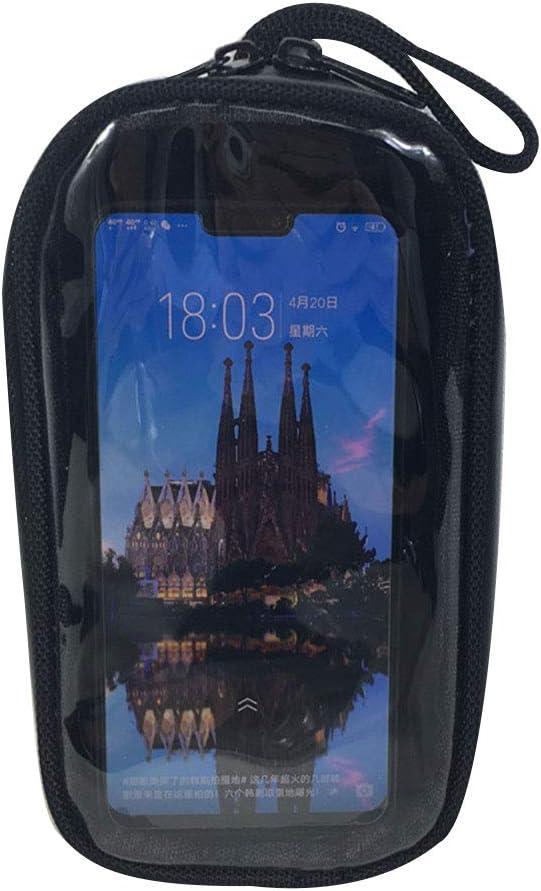 Motorbike Saddle Tank Bag Waterproof Gas Oil Fuel Tank Bag with Transparent PVC Pocket for Mobile Phones LOY Magnetic Motorcycle Tank Bag