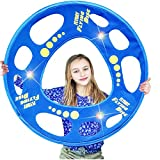 FLYDAY Frisbee with LED lights Training Flying Disc Hoop Easy to Catch 27 Inch,Cool Gifts for Birthday,Outdoor Play