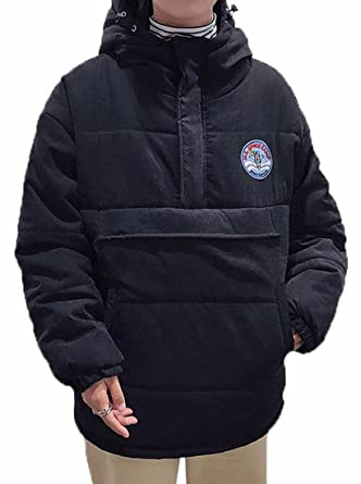 ONTBYB Mens Winter Hooded Pullover Puffer Down Jacket Coat at ...