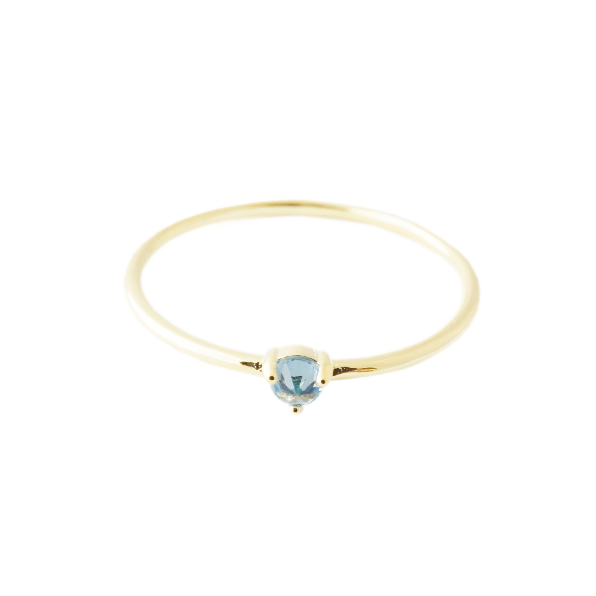 HONEYCAT Blue Aquamarine Crystal Point in 24k Gold Plate | Minimalist, Delicate Jewelry