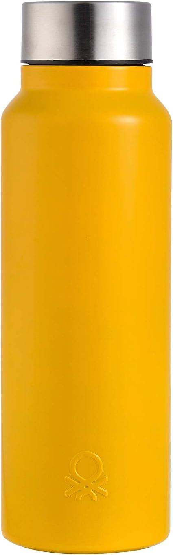 forma perspectiva error  UNITED COLORS OF BENETTON. BE096 Botella agua 750ml acero inoxidable  amarillo Casa Benetton: Amazon.es: Hogar