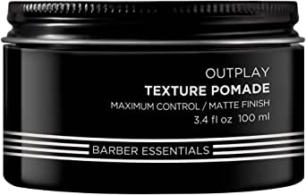 Redken for Men Texture Putty Outplay has a crunch-free formula that contains mineral salts for immediate grab and texture with maximum control, 136.08 g