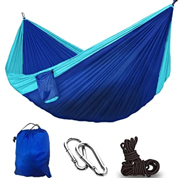 Dual multifuncional de paracaídas de nailon portátil ligero Camping saco de dormir hamaca, viajes,