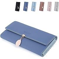 Billeteras Bolso de Mujer en Cuero PU Liso y Suave Monedero de Mujer Grande y Formato Largo en Colores Muy Bonitos con…