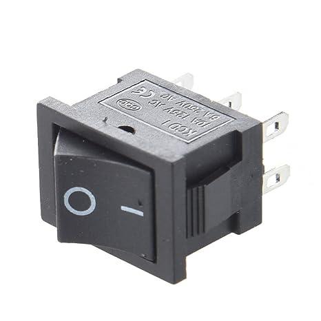 AERZETIX Rojo Interruptor conmutador basculantes de boton SPDT x2 ON-ON 10A//250V 2 posiciones