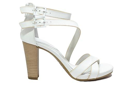 NERO GIARDINI Sandali scarpe donna bianco 7580 mod. TACCO