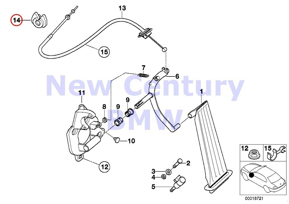 amazon com: bmw genuine accelerator pedal/bowden cable grommet f  accelerator bowden cable 528i 323ci 323i 328ci 328i: automotive