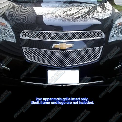Chevrolet Equinox Grille Insert - Fits 2010-2015 Chevy Equinox Stainless Steel X Mesh Grille Grill Insert #CX6738S