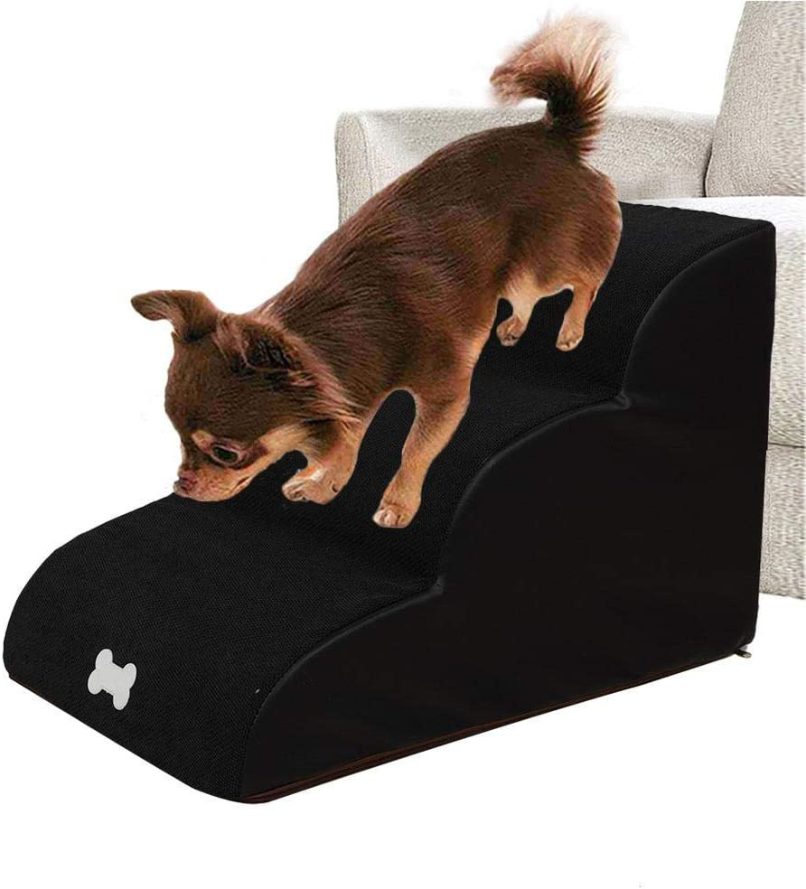 tackjoke Dog Stairs For High Bed Ladder Small Dogs Dog Ramp Highly Breathable And Elastic Material Comfortable And Not Easy To Deform Can Dogs Train Up And Down Stairs 60x40x40 Cm Can Carry 55 Kg