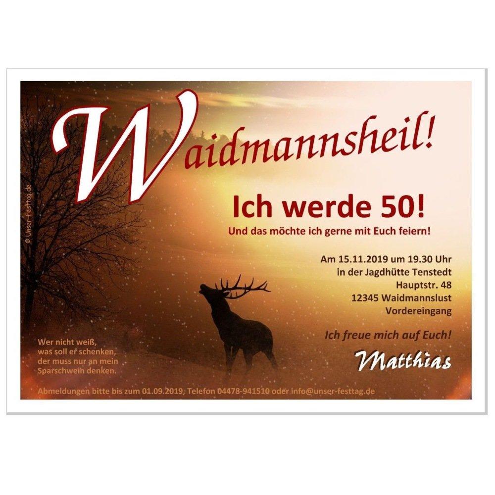 Geburtstagseinladungen Motiv Hirsch Hirsch Hirsch im Schnee ideal für Jägerinnen und Jäger, 90 Karten - 21 x 14,8 cm DIN A5 B01D612YLW | Clever und praktisch  fed077