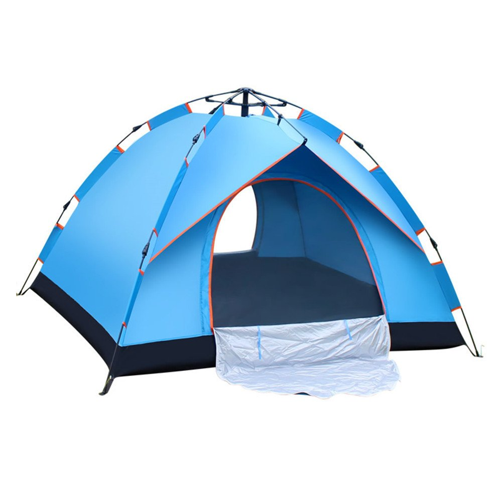 RFVBNM Zelt Outdoor Camping 3-4 Personen single 2 Personen automatische Outdoor Zelt Regen Prävention
