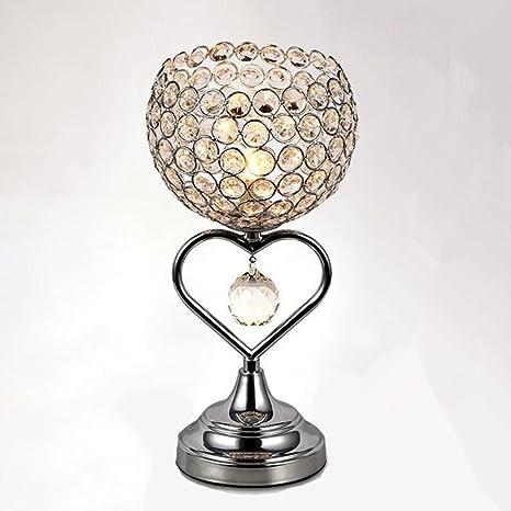 Moderno Cristal Lámpara de mesa elegante nórdicos romántica ...
