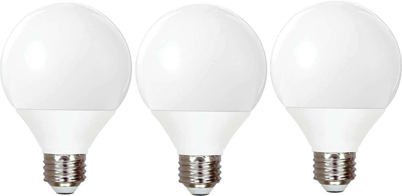 GE Lighting 85392 Energy Smart CFL 11-Watt (40-watt replacement) 500-Lumen G25 Light Bulb with Medium Base, 3-Pack