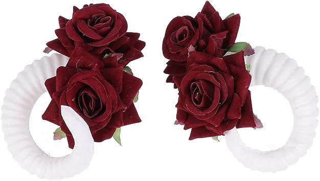 Lurrose Halloween Cuernos de Oveja Flores Rosa para Disfraz Pinzas ...