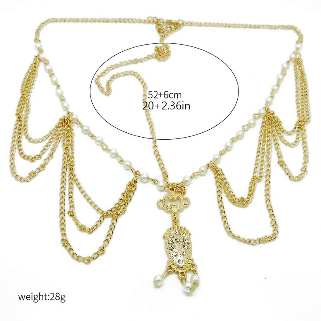 sumicorp.com Edary Boho Quaste Kopfkette Gold Kristall Kopfschmuck ...