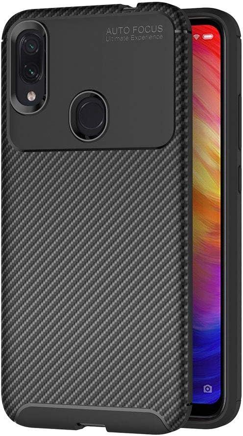 AICEK Funda Xiaomi Redmi Note 7, Negro Silicona Fundas para Redmi Note 7 Carcasa Xiaomi Redmi Note 7 Fibra de Carbono Funda Case (6,3 Pulgadas)