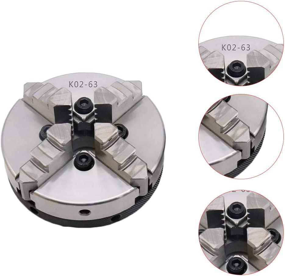 Weilifang 4-Jaw 3-jaw Manual Lathe Chuck 45 Steel 3/4 jaws Self-centering Tools ature Woodworking Lathe Parts 4