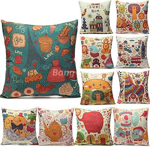 Bazar varios tipo lino y algodón fundas de almohada de oficina en ...