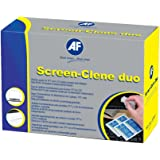 AF Screen-Clene Monitor Cleaning Duo Pairs of Wet and Dry Wipes Ref SCR020 [Pack of 20x2]