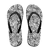 Couple Flip Flops Snail Cute Pattern Print Chic Sandals Slipper Rubber Non-Slip Spa Thong Slippers
