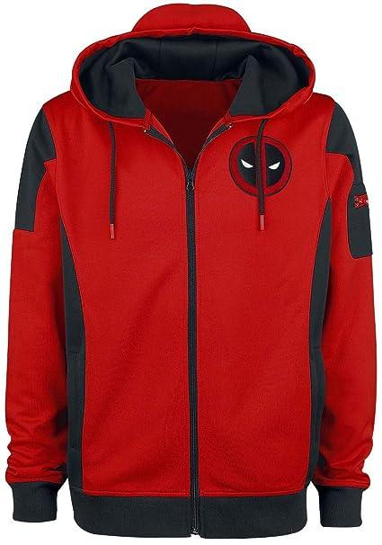 Deadpool Chaqueta con Capucha con el Logotipo de Marvel Roja