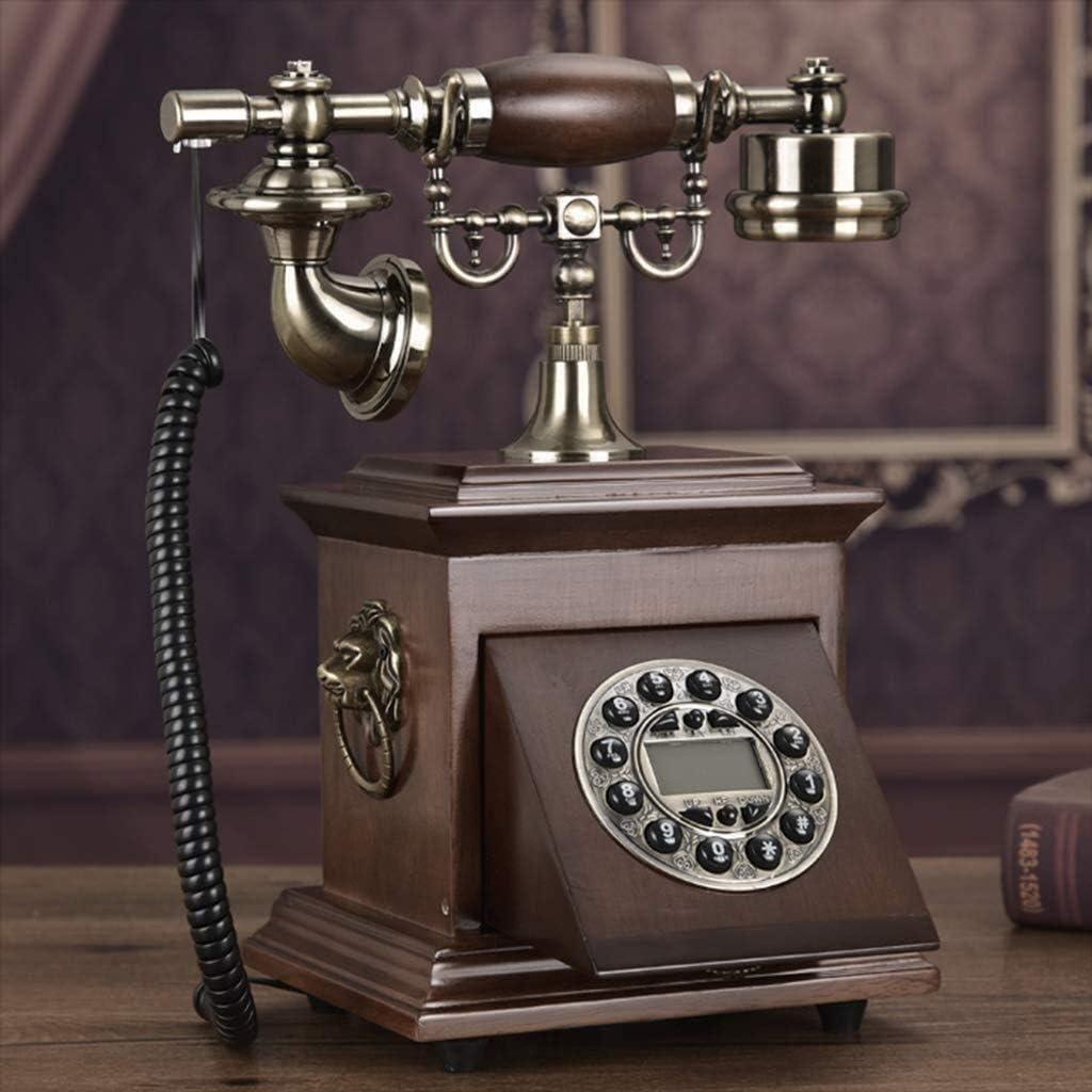 Ybin - Teléfono fijo con cable antiguo, teléfono de negocios, teléfono fijo con cable, caja fuerte, fácil de usar en el hogar, oficina, hotel (color: D): Amazon.es: Hogar