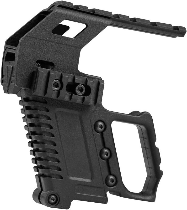 Huenco Kit de Carabine Pistolet s/érie Tactique Glock Dispositif de Chargement du Guide de Recharge Rapide pour Glock G17 G18 G19