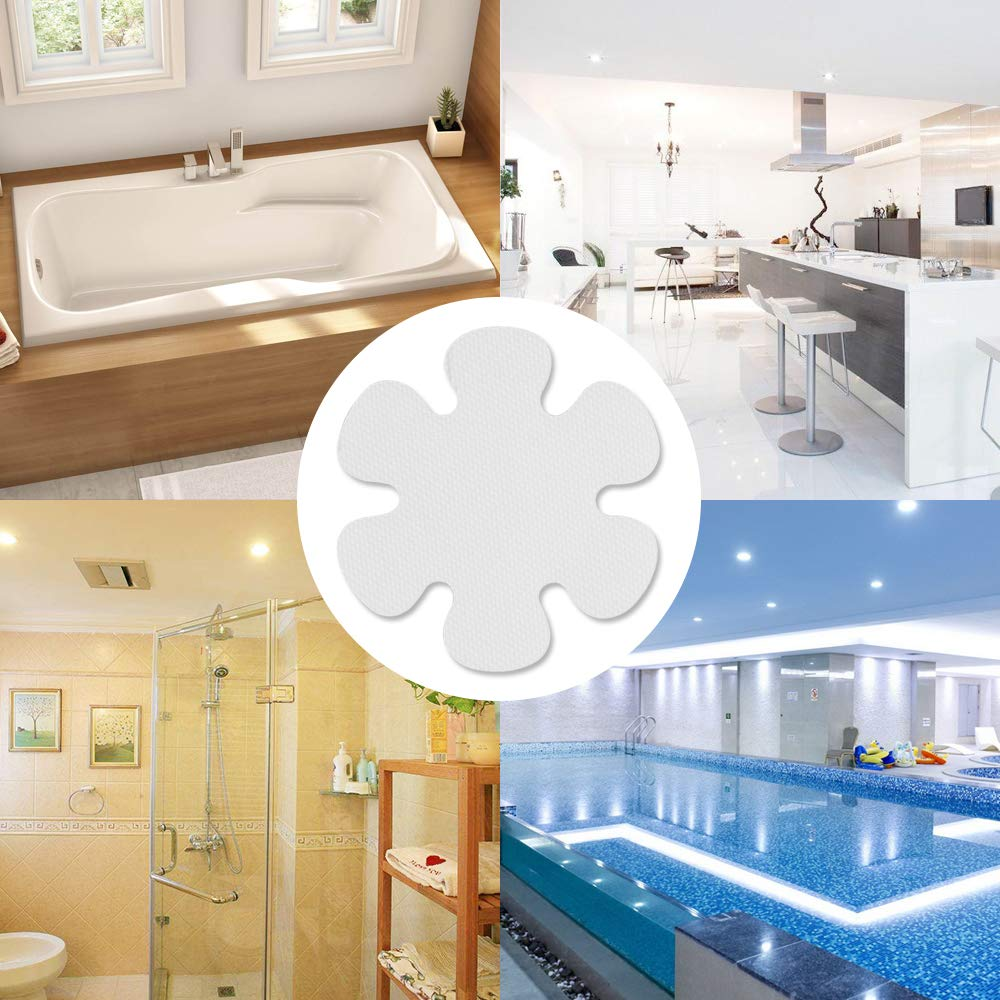 btcus4 Bathtub Anti-slip Stickers Adhesive Safety Treads for Tubs Bath,Showers,Pools,Stairs or Other Slippery Spots -20 Pieces 4 Inches