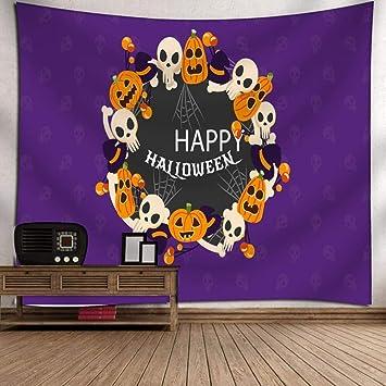 Creazy Halloween Moon Pumpkin Tapestry Room Bedspread Wall Art Hanging Home Decor Grand B