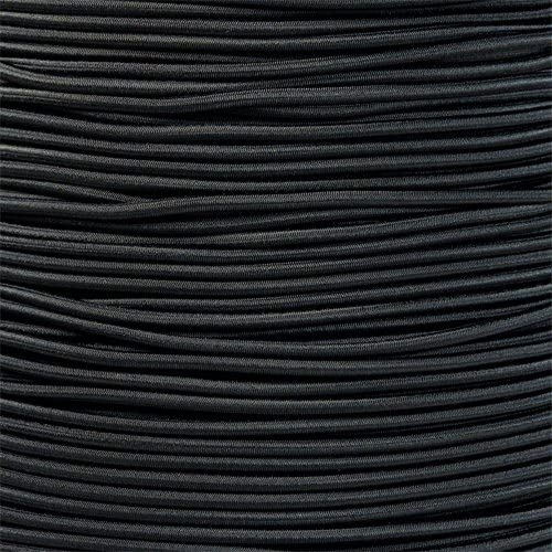 Shock Cord polyester cover,tent pole 3mm x 100 ft New England Ropes Black
