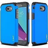 Galaxy J3 Emerge Case, J&D [ArmorBox] [Dual Layer] Hybrid Shock Proof Protective Rugged Case for SamsungGalaxyJ3Emerge/J3 Prime/J3 2017/J3Mission/J3Eclipse/J3LunaPro/Sol2/AmpPrime2 - Blue