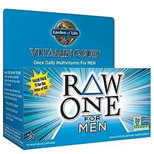 Garden of Life Vegetarian Multivitamin Supplement for Men - Vitamin Code Raw One Whole Food Vitamin