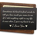 Mens Wallet Insert, Engraved Wallet Card for Husband, If I Did Anything Right in My Life, It Was When I Gave My Heart to You, Best for Husband, Wedding for Men, Women