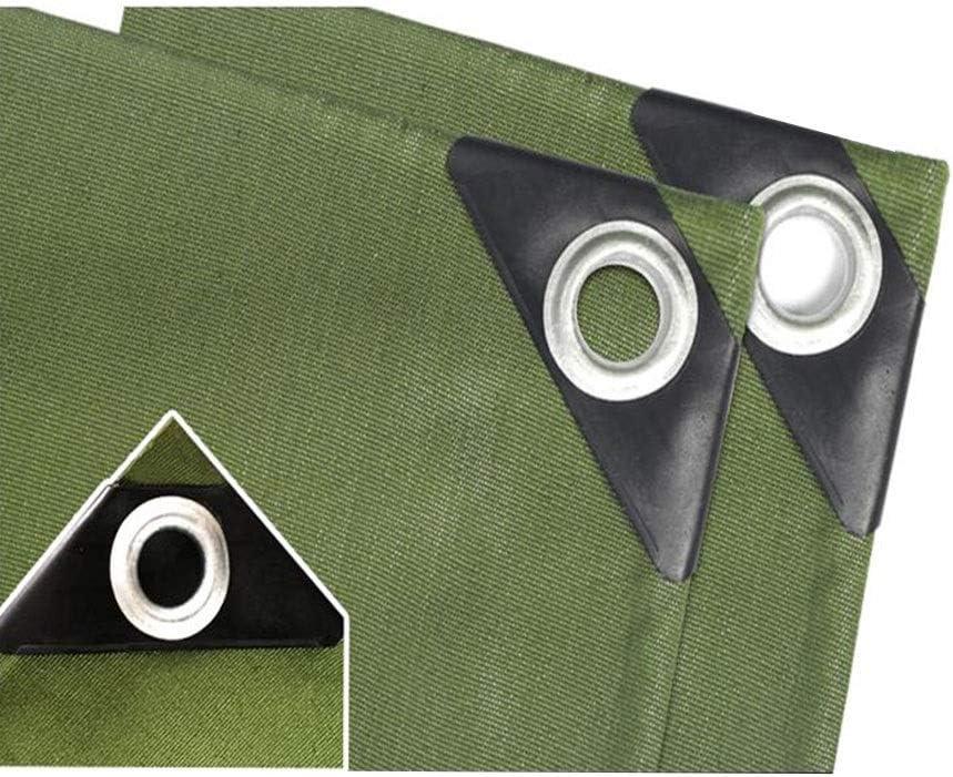 XUERUI シェルター ヘビーデューティ 防水 ターポリン、 キャンバス 防水シート シート屋外 レインカバー にとって 庭園 キャンプ トラック スポーツ アウトドア (Color : 緑, Size : 3x6m) 緑 3x6m
