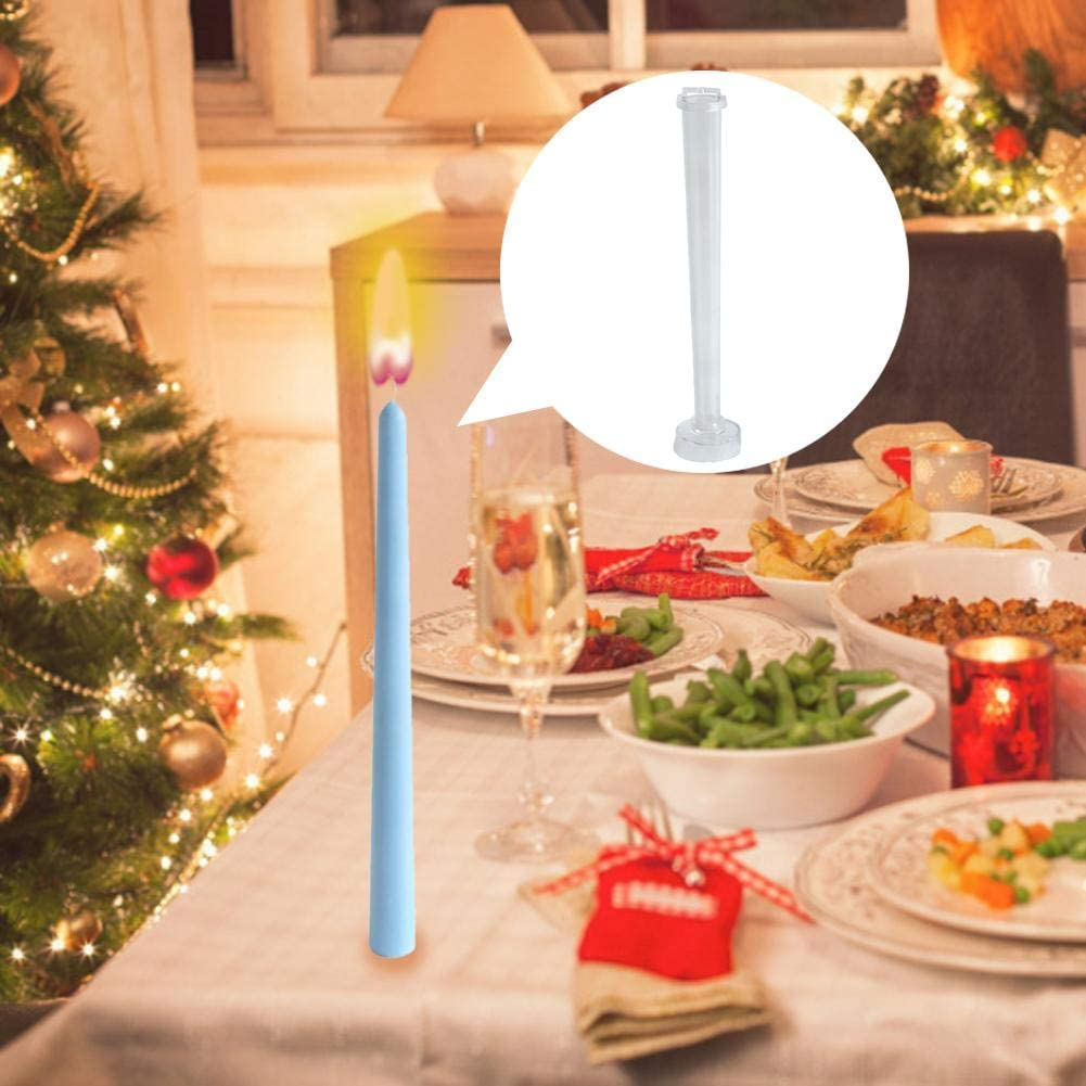 Rifflily Candlestick Mould Rod Shaped Candle Mould DIY Handmade Crafts Candle Making Molds Rod Durable Plastic Candle Molds