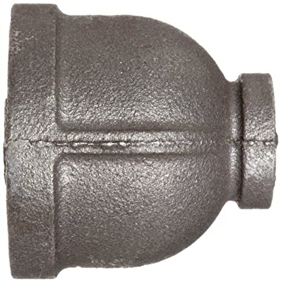 Anvil Malleable Iron Pipe Fitting, Class 150, Reducer Coupling, NPT Female, Black Finish