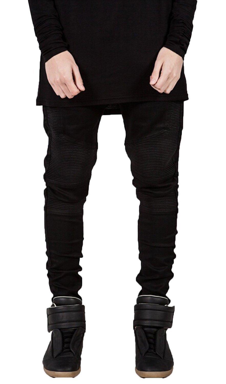 Ancia PANTS メンズ B015H2X07K 32|ブラック ブラック 32