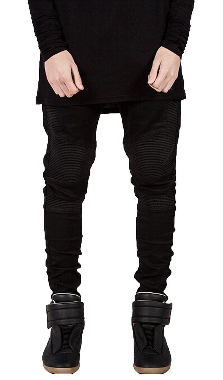 M RACLE Mens Fashion Skinny Runway Distressed Slim Fit Denim Jeans Hiphop Pants Trousers