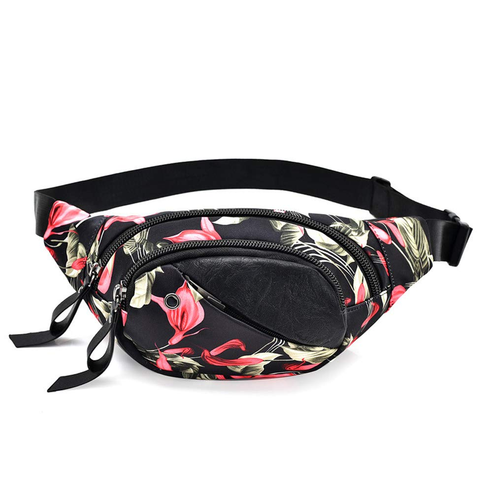 0e06f9c0b325 MoGist Bum Bag Fashion Butterfly Flower Pattern Waterproof Oxford ...